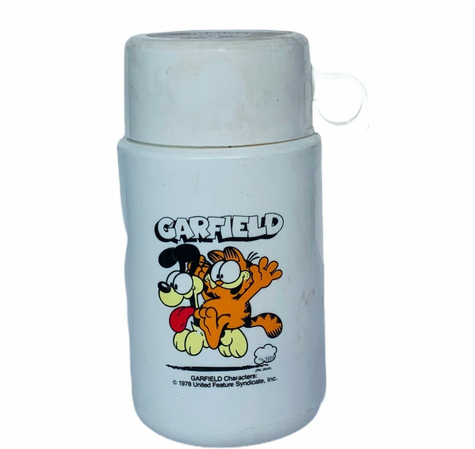 Thermos vtg lunchbox plastic Aladdin accessory Garfield Odie 1978 united feature - $28.98