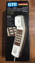 Vintage GTE Push Button Desk Top Telephone Beige Corded Retro Awesome Phone - $37.68