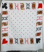 Playing Card Table Tablecloth - Hearts/Diamonds/Spade/Clubs 51x53 Square... - $35.64
