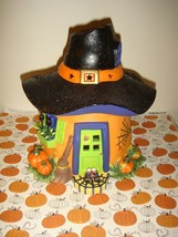 Partylite Halloween Witch Hat House Pumpkin Tealight House Candle Holder... - $18.99