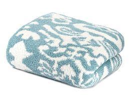 Kashwere Damask Tender Blue & Cream Throw Blanket - €144,02 EUR