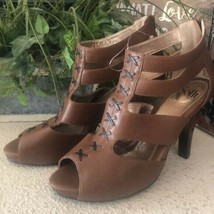 NWOT Sofft Brown tan strappy unique heels - $34.65