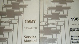 1987 GM Chevy Chevrolet Cavalier Service Shop Repair Manual W Electrical... - $44.50