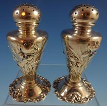 Gorham Sterling Silver Salt & Pepper Shakers 2pc Art Nouveau Iris Motif (#1322) - $760.10