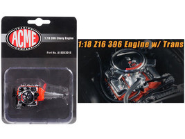 Engine and Transmission Replica Z16 396 from 1965 Chevelle Malibu 1/18 b... - $34.95
