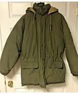 Vintage Ralph Lauren Polo Down Puffer Jacket Flip Ski Patch 1990 M Olive... - $163.28