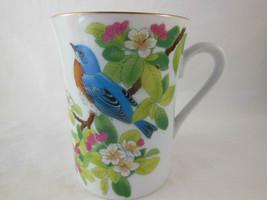 Vintage Japan Otagiri Blue Bird and berries Coffee Mug Tea Cup Pretty - $12.86