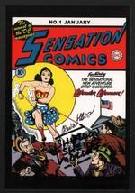 Wonder Woman Vintage Art DC Comics Post Card SIGNED Sheldon Moldoff Irwi... - $64.34
