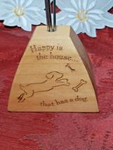 Vintage Desktop Letter/Bill Holder SILVERTONE Wire Coil Happy is the Home .. Dog image 2