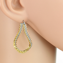 Unique Tri-Color Silver, Gold & Rose Tone Hoop Earrings- United Elegance - $16.99