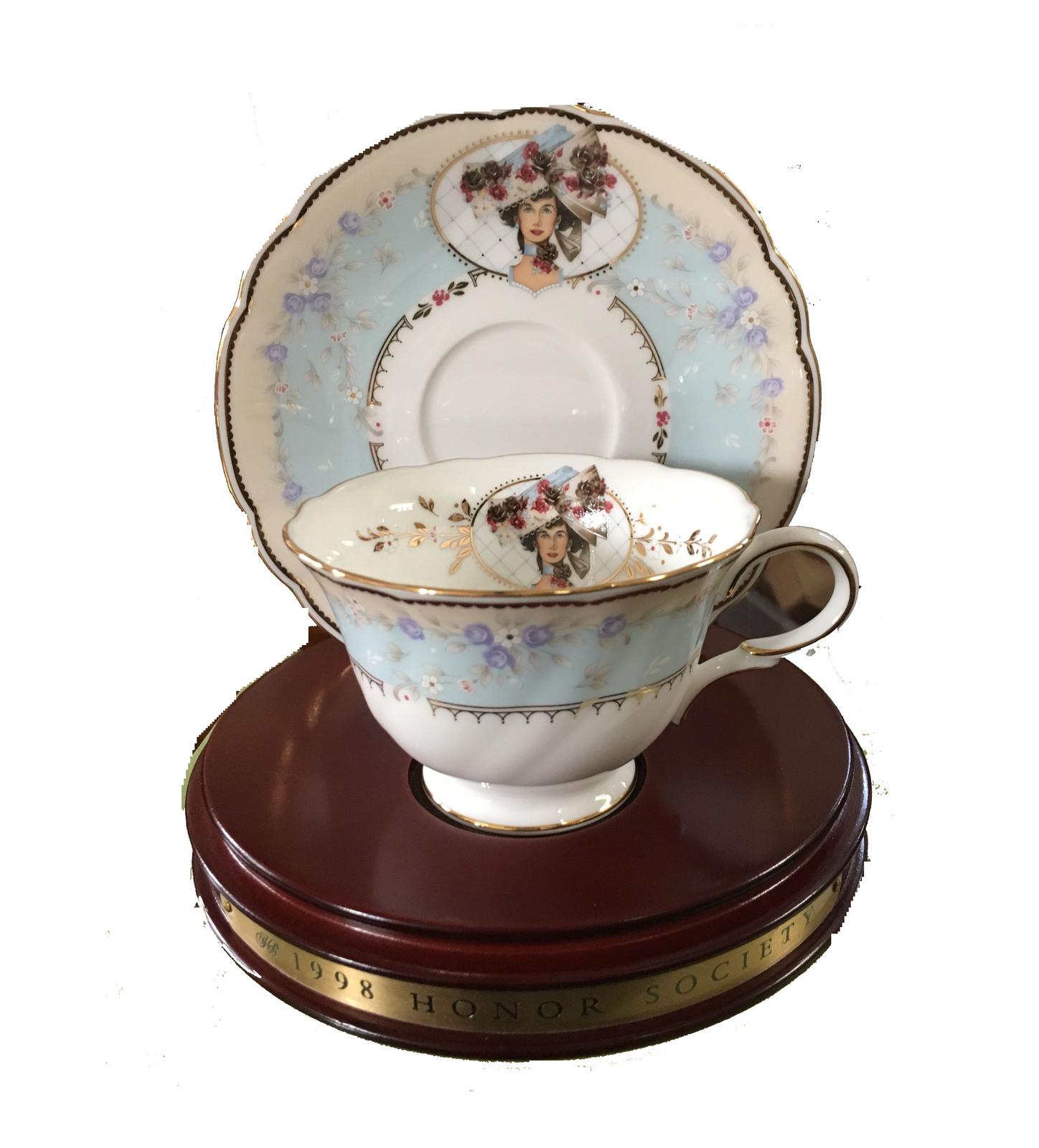 Avon 1998 mrs p f.e. albee commemorative teacup   saucer