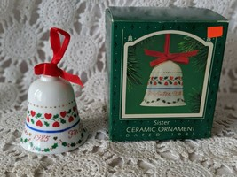 Hallmark Keepsake Sister Ceramic Bell Ornament 1985 - $7.75