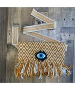 Authentic 100% handmade Wayuu Multicolors Belt Bag Adjustable Mustard Wa... - $65.00