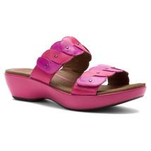 Dansko Dee Fuchsia/Orchid Pink Leather Sandals Slides Women's Sz 38 (7.5... - $49.95