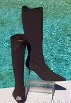 Donald Pliner Couture Expreso Crepe Elastic Stretch Leather Boot Shoe New 6 $350 - $157.50