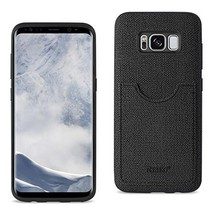 Reiko Samsung Galaxy S8/ SM Anti-Slip Texture Protector Cover With Card ... - $13.21