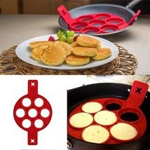 bouti1583 7 Holes Silicone Pancake Baking Cake Molds Frying - $23.79 CAD