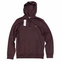 Lacoste Men's Hooded T-Shirt Maroon Burgundy Long Sleeve Lightweight Hoodie - $54.99