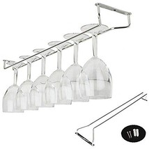 Ceiling Mounted Wine Glass Rack Holder Stainless Steel Under Cabinet Han... - $11.35