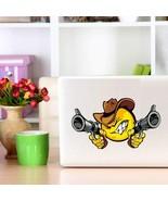 Funny Angry Smiley Face Emoticon Gun Car BumperWall Art Laptop Decal - $2.81