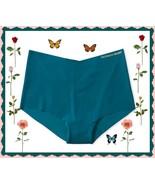 XL  Dark Teal Green Blue NO SHOW Victorias Secret  Midi High Waist Brief... - $10.99