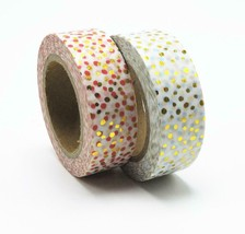 KEVIN&SASA® New Arrival Adhesive Silver Golden Glitter Washi Tape - £3.52 GBP