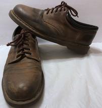 Vtg Dr Doc Martens Brown Nubuck Oxford Shoes Sz 14 US Lace Up Leather 5 Eyelets - $58.90