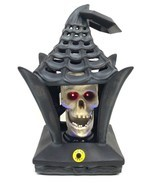 Halloween Haunted House Lights & Animated Lantern Skeleton Skull Prop No... - $59.99