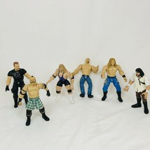 """Vintage 1996-99 Jakks 7"""" Action Figures-LOT OF 6 WRESTLERS - $48.02"""