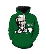 Funny Thc Grandpa Smoking Print 3D Hoodies Unisex Tracksuit Hiphop Jacket - $34.64