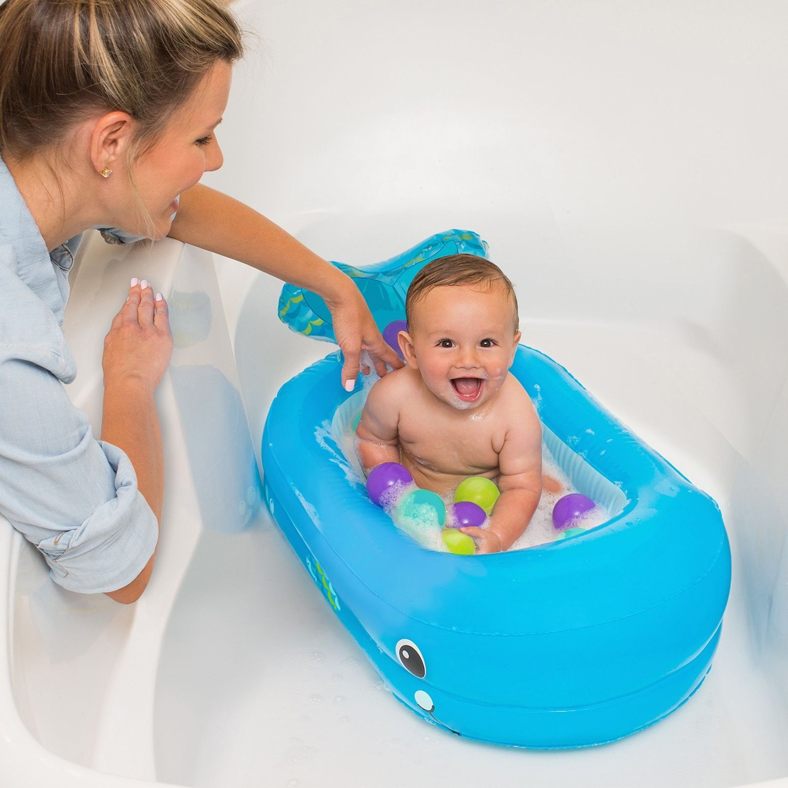 Whale Bubble Bath Tub Infant Baby Inflatable and 50 similar items