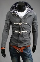 Grey Hot Korean style Spring and Autumn hooded sweatershirt male Korean ... - $57.94