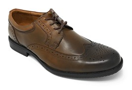 New Clarks Mens Kovit Walk Wingtip Leather Oxford Shoes Brown Size 10 M - $105.62