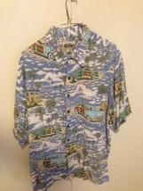 Reyn Spooner Art of Eddy Y Men XL Woody Wagon Surf Hawaiian Beach Shirt  - $32.67