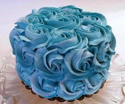 Fake Cake Teal Rosette Prop Decoration Faux Cake Turquoise - $26.72