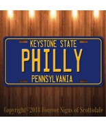 Philly Pennsylvania City/College Aluminum Vanity License Plate Blue - $12.82