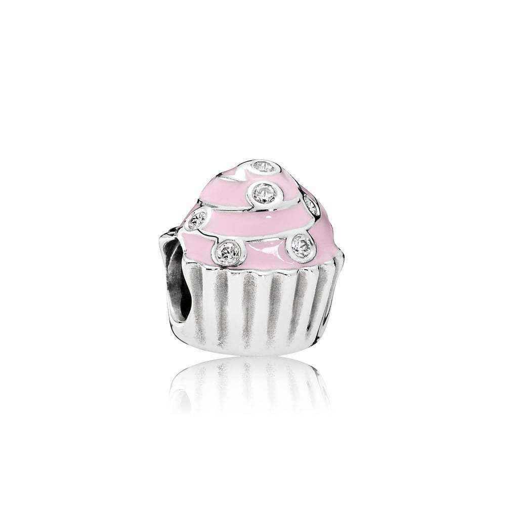 New Authentic Pandora Charm Sweet Cupcake Charm # 791891EN68