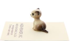 Hagen-Renaker Miniature Cat Figurine Tiny Siamese Kitten Sitting Seal Point image 2