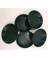 5 inch Case of 5 Austin Planter Saucers Black heavy duty Polypropylene  - $15.00