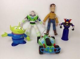 LOT (5) Disney Toy Story Toy Plastic & Plush Figures Woody Buzz Zurg RC ... - $28.66