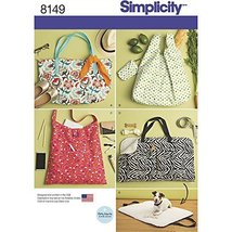 Simplicity Creative Patterns Simplicity Pattern 8149 Totes and Dog Travel Bed, S - $12.74