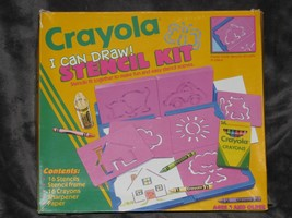 Vintage 1993 Crayola I Can Draw Stencil Kit - $44.54