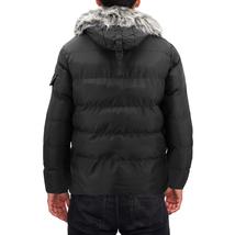 Men's Heavy Weight Warm Winter Coat Puffer Faux Fur Trim Sherpa Lined Jacket image 4