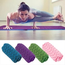 Yoga Pilates Mat Cover Towel Blanket Women Soft Travel Sport Fitness Ex... - £18.59 GBP