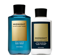 Bath & Body Works Midnight For Men Body Lotion & 2-in-1 Hair + Body Wash Duo Set - $32.95