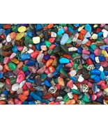 <U.S SELLER>GOLD Rep.*$10 Banknote + OVER-100 Mixed Polished GEMSTONES FAS - $10.63