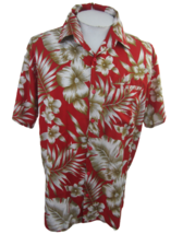 Creations Men Hawaiian camp shirt L pit to pit 25 aloha luau tropical fl... - $15.99
