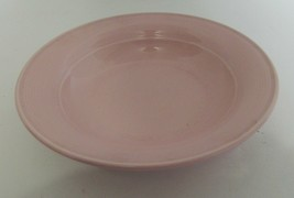 Nancy Calhoun Dinnerware Solid Colors Pattern Light Rose Color Rimmed So... - $12.86