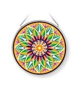 "Fiori Del Sol Sun Catcher AMIA 4.5"" Glass New Hand Painted Round Sunflow... - $23.75"
