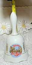 """Vintage Fabulous Las Vegas NV Ceramic Collector Souvenir Hand Bell 5.25"""" image 3"""